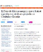El Foro de Marcas asegura que el boicot a productos catalanes perjudica a Cataluña y España
